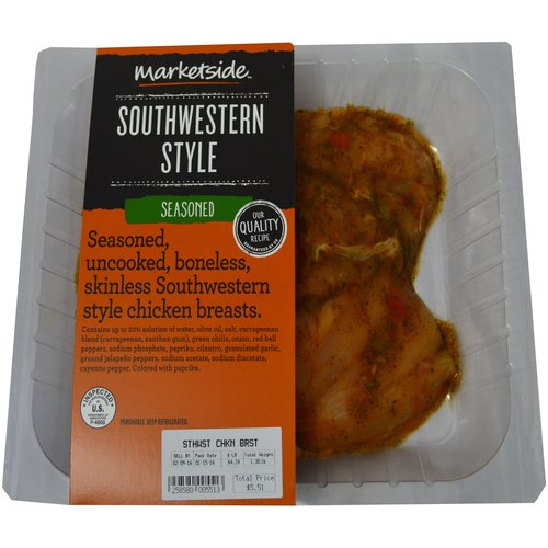 Marketside Chicken Breast with Southwest Seasoning