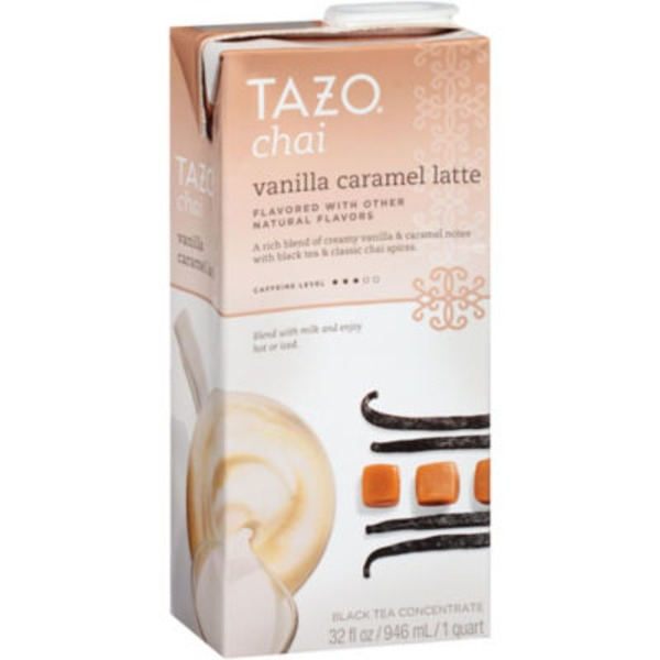Tazo Tea Chai Vanilla Caramel Latte Black Tea Concentrate