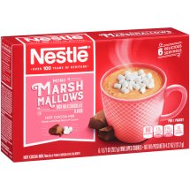 NESTLE HOT COCOA Mix Mini Marshmallows Flavor 6-0.71 oz. Packets