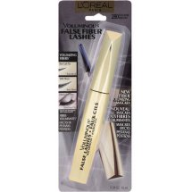 L'Oreal Paris Voluminous False Fiber Lashes Mascara, Blackest Black, Black Brown