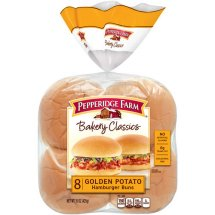 Pepperidge Farm Bakery Classics Golden Potato Hamburger Buns, 8 ct, 15 oz