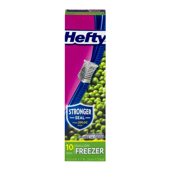 Hefty Slider Bags Gallon Size Freezer Bags