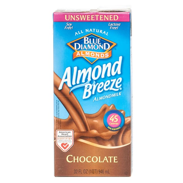 Blue Diamond Almond Breeze Unsweetened Chocolate Almondmilk