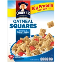 Quaker Oatmeal Squares Crunchy Oat with a Hint of Brown Sugar Cereal