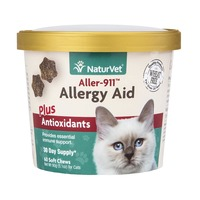NaturVet Aller-911 Allergy Aid Soft Chews Plus Antioxidants For Cats