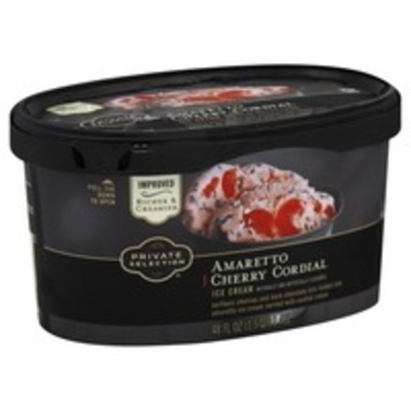 Kroger Private Selection Amaretto Cherry Cordial Ice Cream