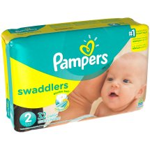 Pampers Swaddlers Diapers, Size 2, 32 Diapers