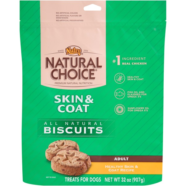 Nutro Natural Choice Adult Skin & Coat Healthy Skin & Coat Recipe All Natural Dog Biscuits