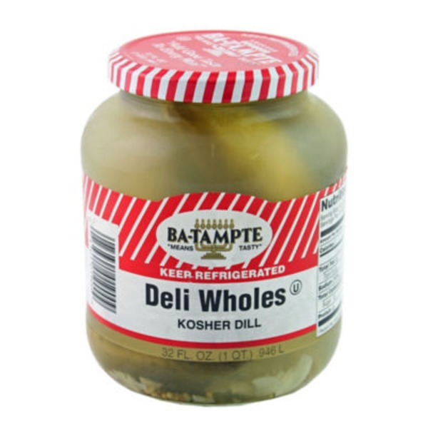 Ba Tampte Pickles, Kosher Dill, Deli Wholes