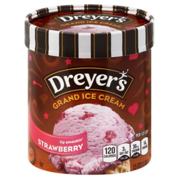 Dreyer's Rich & Creamy Grand Real Strawberry Ice Cream