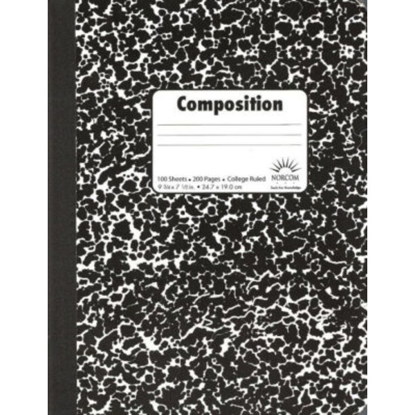 Norcom Hard Cover Composition Book
