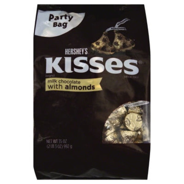 Hershey Kisses Milk Chocolate With Almonds Party Bag