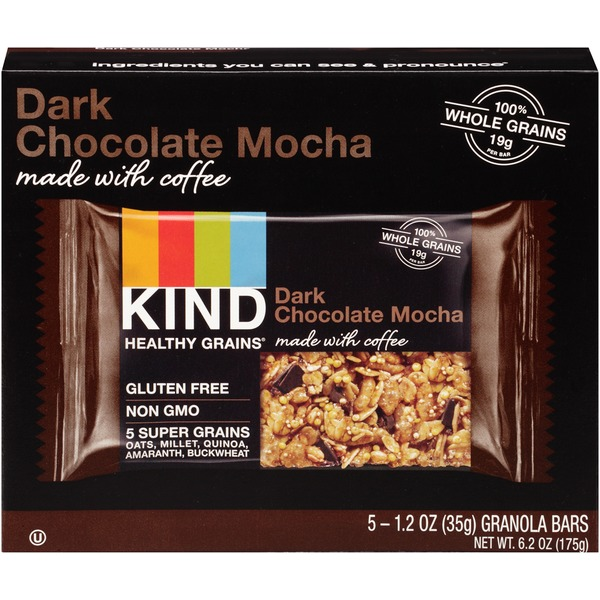 Kind Healthy Grains Dark Chocolate Mocha Granola Bars