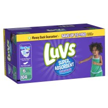 Luvs Super Absorbent Leakguards Diapers, Size 6, 104 Diapers