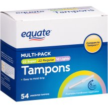 Equate Multipack Assorted Tampons, Unscented, 54 Ct
