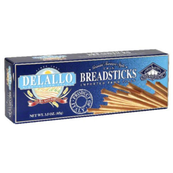 DeLallo Breadsticks Thin Grissini Torinese Style