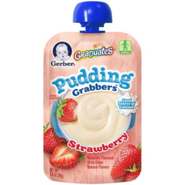 Gerber Graduates Grabbers Strawberry Pudding