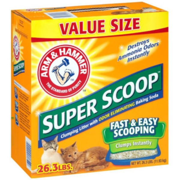 Arm & Hammer Super Scoop Clumping with Odor Eliminating Baking Soda Cat Litter