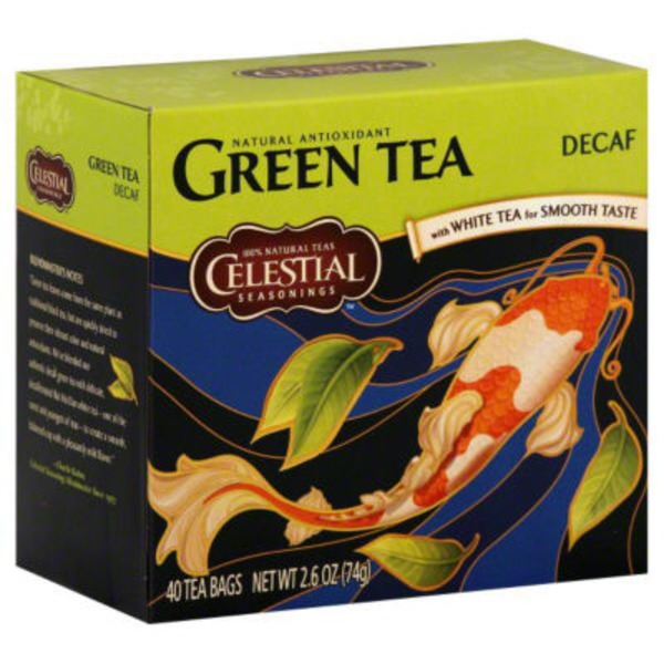Celestial Seasonings Decaf Green Tea Bags with White Tea - 40 CT