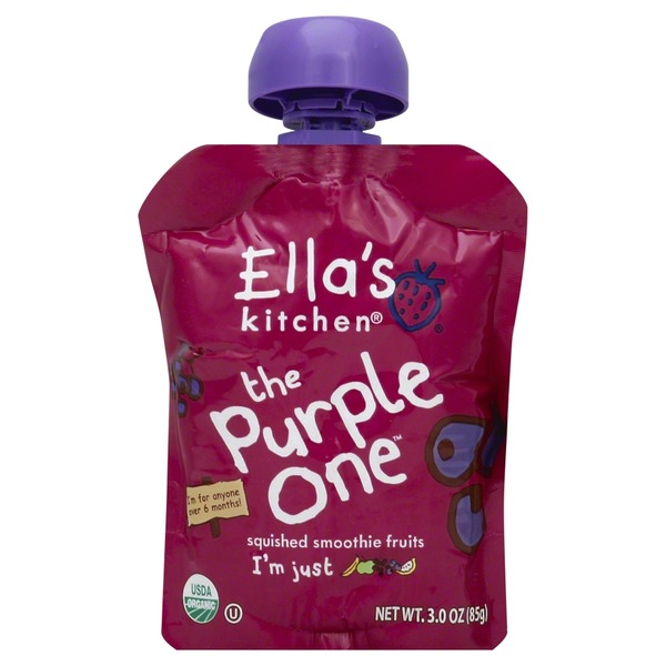 Ella's Kitchen 100% Organic The Purple One Squished Fruit Smoothie
