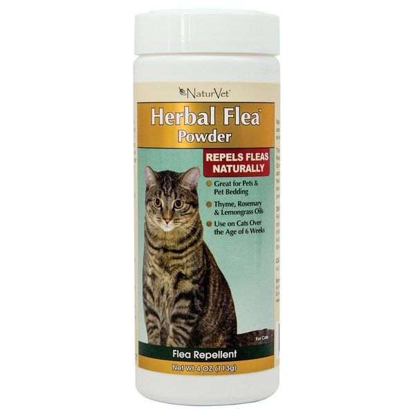 NaturVet Herbal Flea Powder For Cats & Cat Bedding