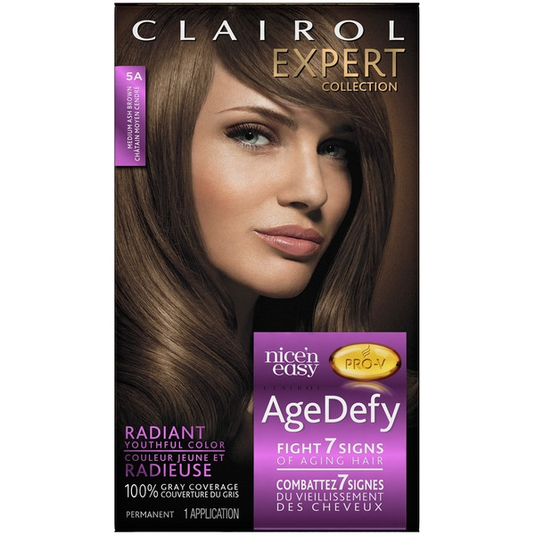 Clairol Age Defy Clairol Age Dye Expert Collection 5A Medium Ash Brown 1 Kit Female Hair Color