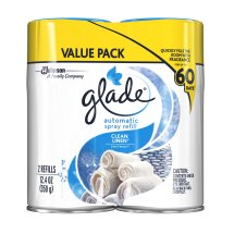 Glade Automatic Spray, Clean Linen, 12.4 oz. (Pack of 2)