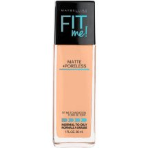 Maybelline New York Fit Me Matte Plus Poreless Foundation Makeup, Natural Beige, 1 Fl Oz