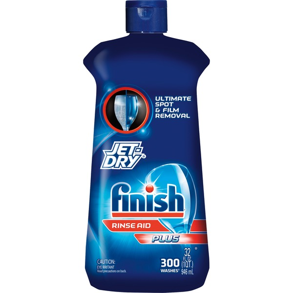 Finish Jet Dry Plus Rinse Agent 32 Ounce Bottle