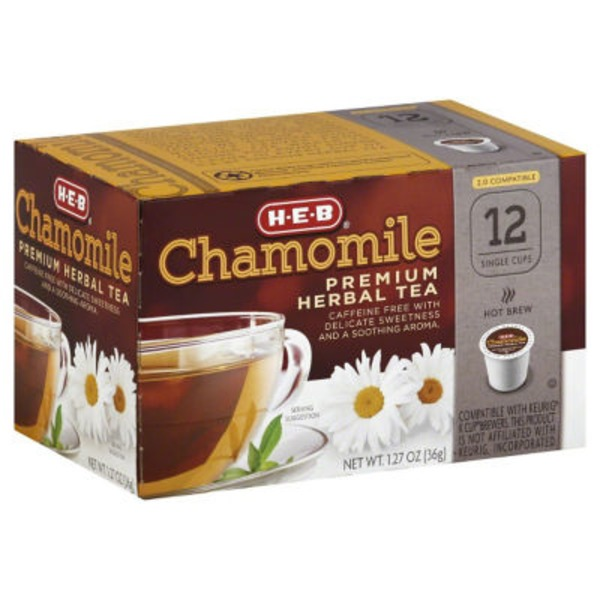 H-E-B Chamomile Premium Herbal Tea Single Cup