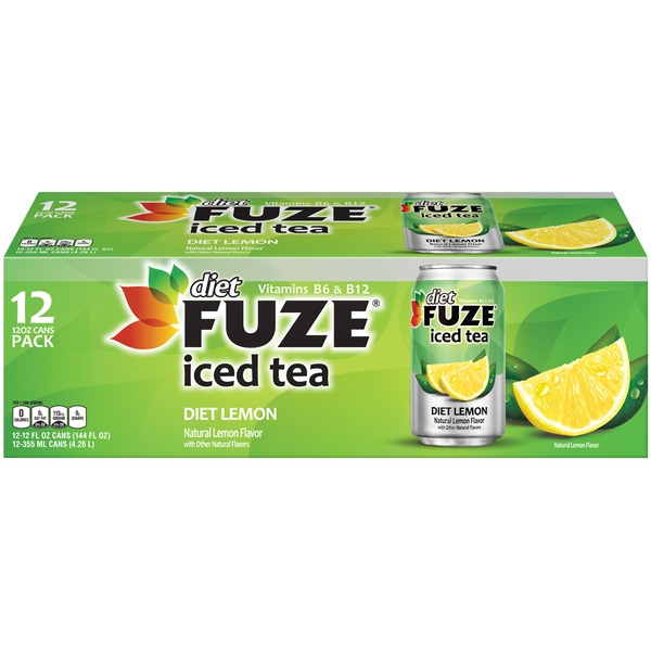 Fuze Diet Lemon Fridge Pack Iced Tea