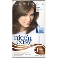 Clairol Nice 'N Easy Permanent Hair Color 6 Natural Light Brown 1 Kit  Female Hair Color