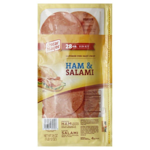 Oscar Mayer Cold Cuts Ham & Salami Sub Kit