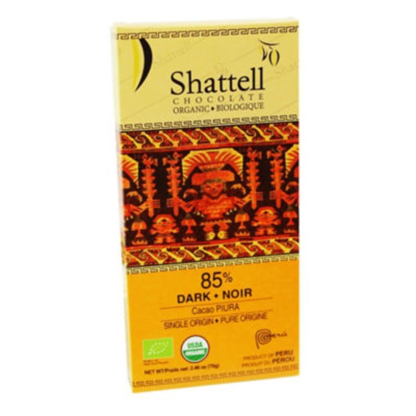 Shattell Chocolate Dark Chocolate 85% Cocoa Piura