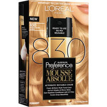 L'Oreal Paris Superior Preference Mousse Absolue Hair Color 830 Medium Golden Blonde