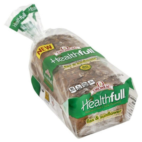 Brownberry/Arnold/Oroweat Healthfull 100% Whole Grain Bread Flax & Sunflower