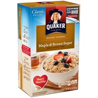 Quaker Oatmeal Maple & Brown Sugar Instant Oatmeal