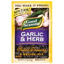 Kraft Good Seasons Garlic & Herb Salad Dressing & Recipe Mix, 0.75 Oz