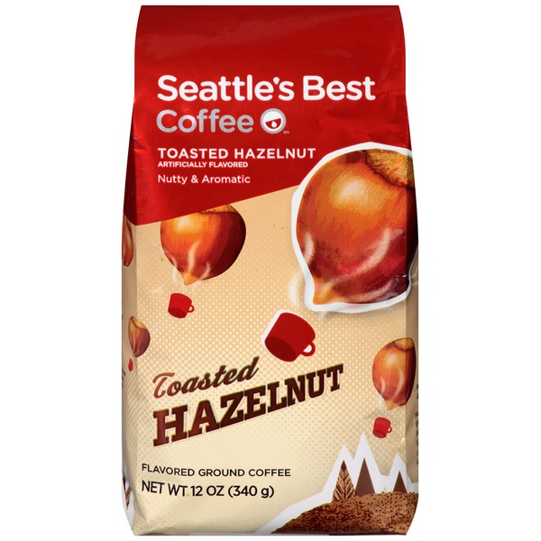 Seattle's Best Coffee Toasted Hazelnut Flavored Ground Coffee