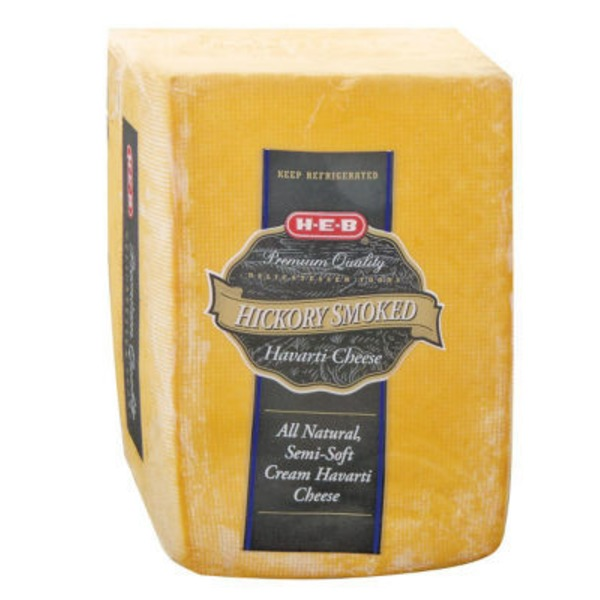 H-E-B Hickory Smoked Havarti Cheese