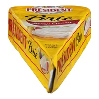 President Soft Ripened Brie Cheese, Wedge