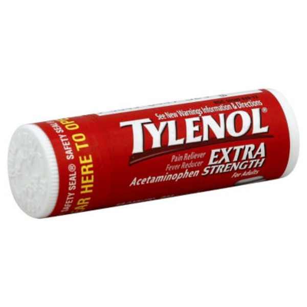 Tylenol® Caplets 10 Ct. Vial Rack Extra Strength