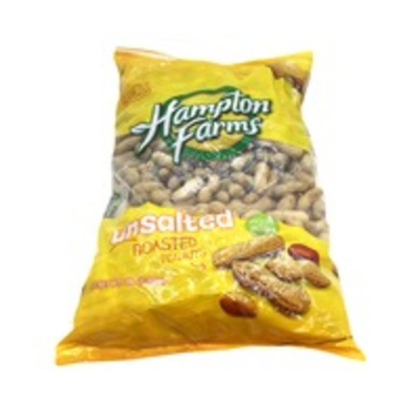 Hampton Farms Unsalted Roasted Peanuts