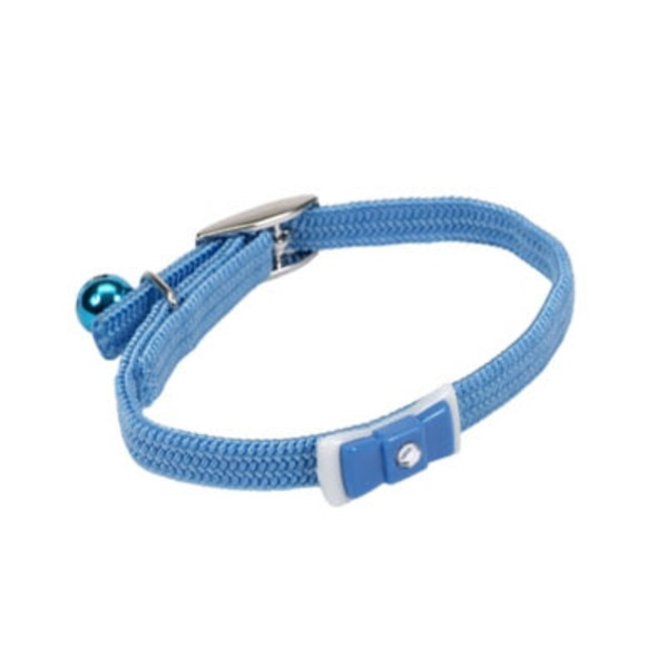 Coastal Pet Li'l Pals Adjustable 6 Light Blue Kitten Collar With Bow