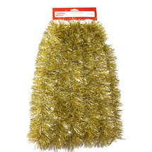 Young Craft 15' Soft and Silky Tinsel Garland Champagne
