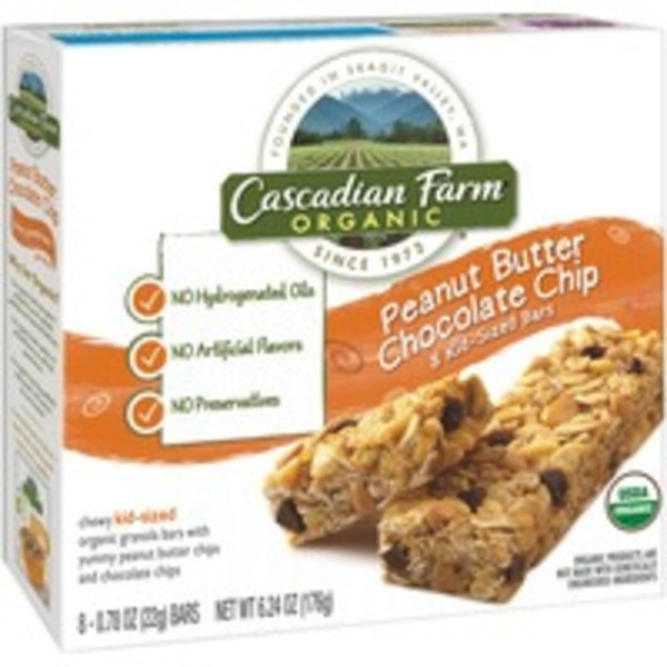 Cascadian Farm Organic Chewy Kid-Sized Peanut Butter Chocolate Chip Granola Bars