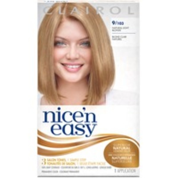 Clairol Nice 'N Easy Permanent Hair Color 9 Natural Light Blonde 1 Kit  Female Hair Color