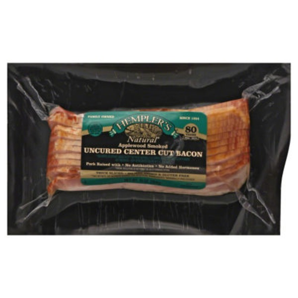 Hempler's Natural Uncured Center Cut Applewood Smoked Bacon