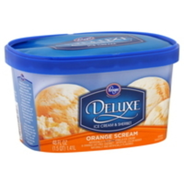 Kroger Deluxe Orange Scream Ice Cream