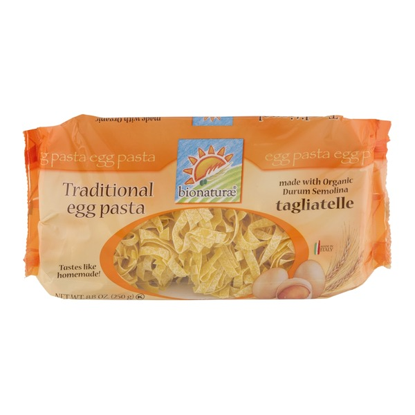 Bionature Traditional Egg Pasta  Tagliatelle